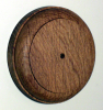 90mm Round Oak Pattress