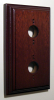 Rectangular Mahogany Double Pattress