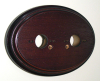 Oval Double Mahogany Pattress - Reduced to Clear