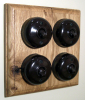 Quadruple Oak Pattress with 1/2 Way Bakelite Dolly Switches